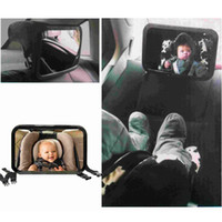 universal baby seat mirror - Adjustable Belt Back Seat Car Interior Mirror Square Facing Rear View Headrest Mount Mirror Safety Baby Kids Monitor Car Styling K2092