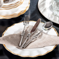 Wholesale India ranks high yield odd home decorations ornaments food supplies alloy knife and fork spoon three sets