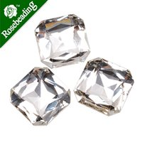 Wholesale 20pcs square mm cushion cut stone crystal faceted stone for SWAROVSKI