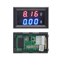 Wholesale 1pcs Hot Worldwide DC V A Voltmeter Ammeter Blue Red LED Amp Dual Digital Volt Meter Gauge free shgipping