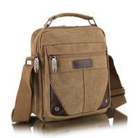 Wholesale Men s Canvas Bag Leisure Oblique Cross Bag Fashion Anticline Neutral CheapBag Men s Inclined Shoulder Bags