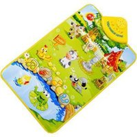 Wholesale 2014 New Farm Animal Printed Children Game Carpet Cute Baby Play Mats Novetly Mini Musical Carpet