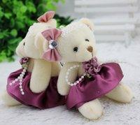 al por mayor clásica de la boda del oso de peluche-el clásico oso de peluche conjuntas muñecas de la boda del oso de peluche juguetes al por mayor de dibujos animados ramo de materiales de embalaje