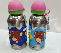Wholesale Brand New Mugs Cup Stainless Steel PVC Soft Color Elephant Pattern Stretch Mouth Travel Cups For Kds