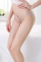 women thongs - 2014 new arrival beige transparent healthy breathable silk sexy thongs women ladies underwear high quality with