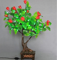 Wholesale Artificial Flower LED Glow Christmas Tree Bonsai Landscape Lighting Night Light For Wedding Party Christmas Decoration
