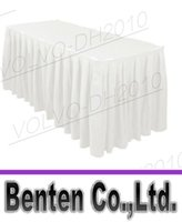 Wholesale llfa1467 ft White Polyester Table Skirt for Weddings Meeting rooms Offices