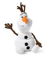 Wholesale New cartoon movie cm Frozen Lovely OLAF plush toys the Snowman Plush Doll Stuffed Toy