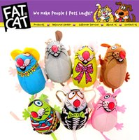 Wholesale High quality Fat Cat canvas mouse Multicolor cat amused mint toys pet cartoon plush toys cm