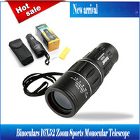 Wholesale Binoculars X52 Zoom Sports Monocular Telescope Mono Spotting Scope for Outdoor Traveling Hiking Camping Black Cheap