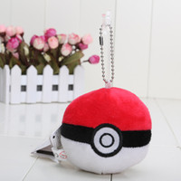ash ketchum doll - Poke Go PokeBall Poke Ball cm Ash Ketchum Pikachu Soft Plush Toy Pendant key chain doll