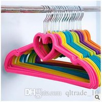 Wholesale 5 Colors Anti Skidding Clothes Hangers Hangerworld Multifunctional Plastic hanger for Suits Household Clothes Hanger LJJC1558
