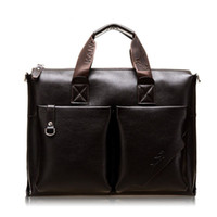 Wholesale 2015 New Brands Genuine Leather Casual Business Men Briefcases Shoulder Bags For Inch Laptop Travel Handbags Russia Hot Sale