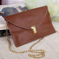Wholesale 2014 New Color Women Lady PU Leather Envelope Bag Shoulder Bags Messager Bags