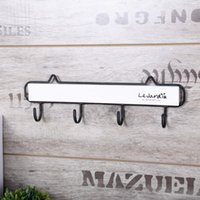 Wholesale 4 Hooks Vintage Solid Wood Wall Hanger Robe Hooks For Hanging Clothes Hat Bag Home Decor Wall Rack