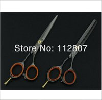 Wholesale 1lot inch Black Color Classical Barber Scissors kits Hairdressing Scissors Hair Cutting Shears Beauty Hair Shears Sets C