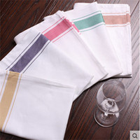 Wholesale 50 CM Strong Absorbent Colour Wipe Glasses Cotton Cloth Hot Sale Table Napkins
