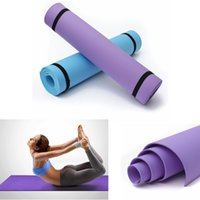 Wholesale 1pcs mm Thick Yoga Mat Pad Non Slip Lose Weight Body Building Exercise Gym Fitness Home Indoor New