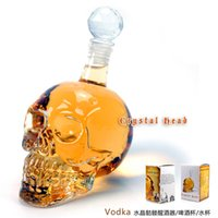 Wholesale 2014 Fashionable innovative ml ml ml Crystal Skull Head Vodka Shot Glass Beer Bottle Drink Ware Home Bar Party Creative Gift Cup