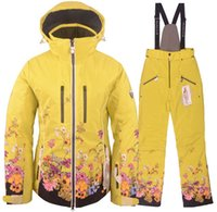 Wholesale New Sportalm womens snow ski jackets coats ski pants Snowboard ski suit set Outdoor sports thermal wear superstrong warm