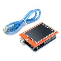 achat en gros de petite lcd pouces-2,4 pouces 2,4 pouces TFT LCD tactile Conseil Bouclier module d'affichage Pour Arduino Uno petite commande pas de suivi