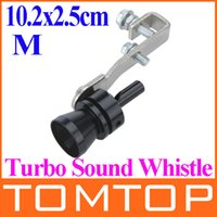 Wholesale Universal Car Vehicle Turbo Sound Whistle Exhaust Pipe Tailpipe Fake BOV Blow off Valve Simulator Size M x2 cm Black