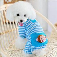 dog pajamas - Small Pet Dog Stripes Pajamas Coat Cat Puppy Cozy Clothes Apparel Clothing