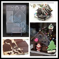 bake house - hot Valentine DIY Christmas house chocolate mould gingerbread house mold chocolate mould sweet candy jelly mold baking mould tool