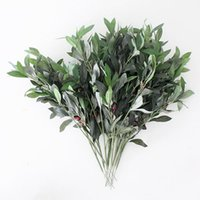 olive tree - Green Artificial Olive Tree Branches and Leaves for Wedding Decking