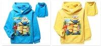 baby bogs - best quality Autumn winter Despicable Me minion clothes bog girl child hoodies Baby fleece hoodies Coats D356