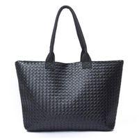 leather design bag - new Selling Women PU Leather Handbag Tote Shoulder Bag rge capacity PU weave bags fashion design