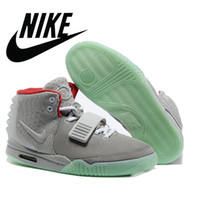Cheap Men Nike air yeezy 2 Red Best Genuine Leather Rubber Nike Basketball Shoes