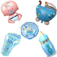baby boy souvenirs - Cartoon Baby Boy Bithday Party Decorations th Birthday Party Supplier Foil Balloons Souvenirs Baby Shower Boy