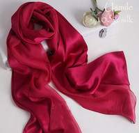 magic rose - Deep Rose Double Faced Pashmina Pure Satins Silk Plain High Quality Muslim Arabic Magic Spring Designer Silk Scarves Shawls for Women