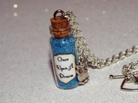 beauty owl - 12pcs Once Upon a Dream glass Bottle Necklace with an Owl Charm Sleeping Beauty inspired necklace