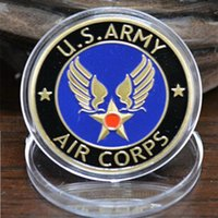 air force challenge coin - Honorable Retired United States Air Force Souvenir Coin U S Army Air Corps Challenge Military Gold Plated Medal Coin