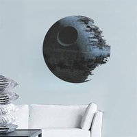 artwork bedroom - Star Wars Wall Decal DEATH STAR ARTWORK Removable science fiction d WALL STICKER Home Decor cartoon boy s room decor