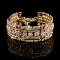 Wholesale Women Infinity Bracelets High Quality Rhinestone Bangles Fashion Jewelry Wedding Dress Bracelets Factory