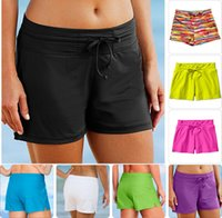 athleta women - Freeshipping Athleta Fun In The Sun Swim Short sunscreen women s loose lacing beach swimming pants spa Safety swimming trunks