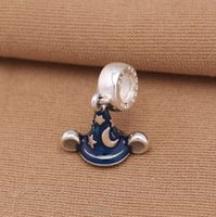 authentic fitted hats - Dangle Enamel Mickey Charms Fits Pandora Bracelets Authentic Sterling Silver Secret Star Hat Charm Diy Spring Women Jewelry