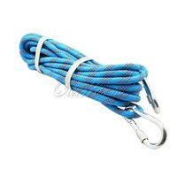 climbing rope - High Quality Blue M Rock Climbing Rope Firefighter Cord Wire for safety Escape Lifesaving Rescue Outdoor Sports