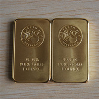 Wholesale EXTREMELY RARE oz Perth Mint black swan gold bar gilded k