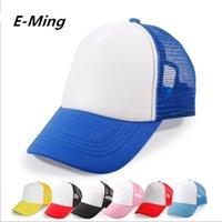 plain trucker cap - Plain Children Baseball Cap Custom Baseball Hats Adjustable Snapback Trucker Cap Your Logo Are Welcome By EMS Or DHL