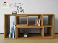 Wholesale European style furniture simple modern solid wood white oak storage rack bookshelf flower shelf colors