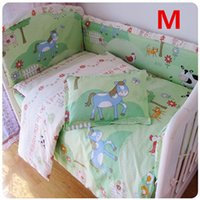 Wholesale Hot Newborn Baby Bed Set With Bumpers Around And Sheet Paterns Optional cm Kids Crib Set Bed Clothes