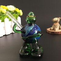 Wholesale Glass Smoking Pipes Ninja Turtle Style Pipes Glass Hand Pipe Glass Water Pipes Smoking Hookahs Portable Glass Bongs for Smoking vaporizer