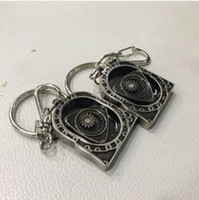 auto parts engines - 10pcs New HOT Spinning Rotor Keychain Creative Car Auto Parts Model Engine Rotary Keyring Key Ring Chain Keychain Keyfob