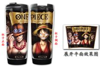 ace space - New One Piece LULLY Ace ZORO Chopper Nami Sanji Nico Robin Double Insulation Mug Coffee Cup Space Cup