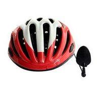 bicycle helmet mirror - hot bike bicycle cycling helmet rearview mirror road reflector safety mirror Acrylic Aluminum bike parts
