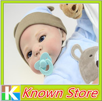 Cheap Full silicone vinyl 22 inch 58cm Reborn Boy Gir Baby Doll Handmade Soft Silicone Lifelike NPK Dolls With Clothes High Quality